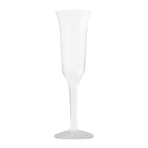 5 oz Clear Plastic Champagne Flute