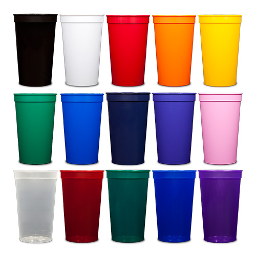 22 oz Stadium Cups - All Colors