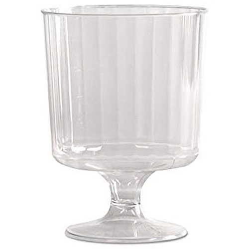 Printable 8 oz fluted wine glass