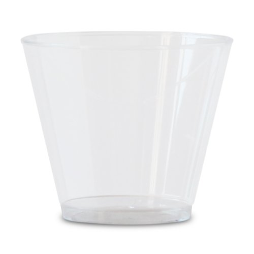 9 oz Squat Clear Plastic Glass