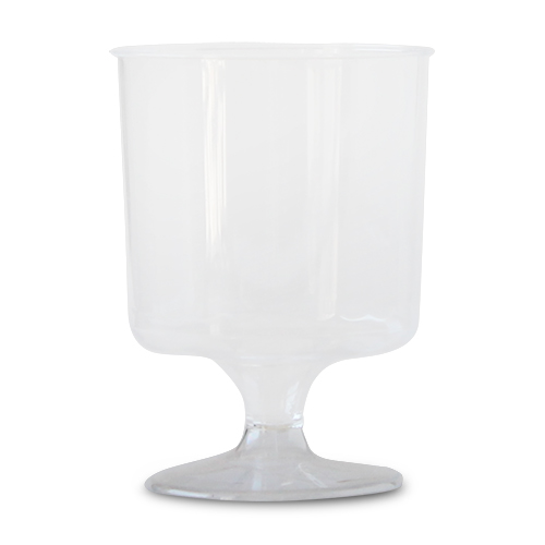 5 oz Clear Plastic Square Wineglass