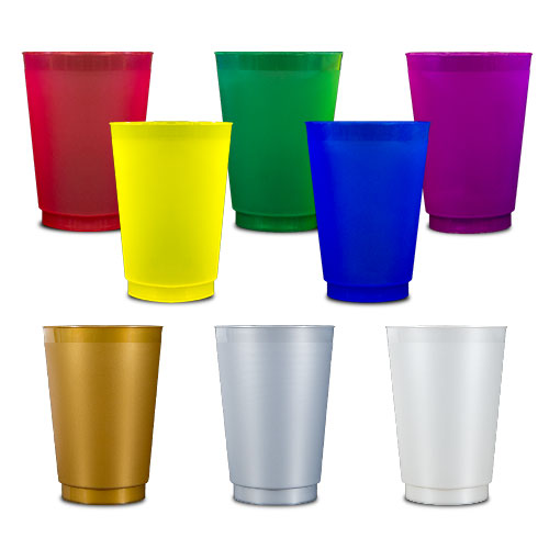 Colored Frost Flex Cups - 12 oz