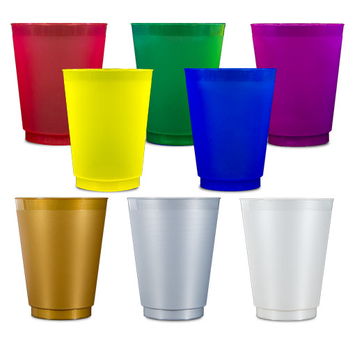 Colored Frost Flex Cups - 16 oz