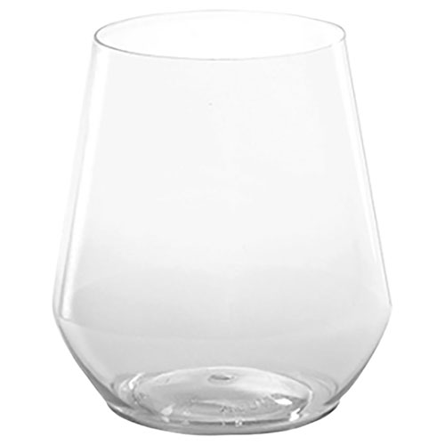 14 oz Clear Plastic Stemless Wineglass